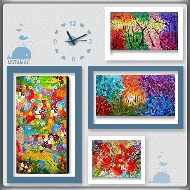 Put some #color in your #life!!! :) By #Art, #give ART! It's a #gift for a #lifetime!!! <3 https://www.JULIAAPOSTOLOVA.etsy.com  www.artfinder.com/JULIAAPOSTOLOVA  #artforsale #abstraction #landscape #creative #artsy #arts #artoftheday #artlovers #abstracto #stayabstract #OriginalPainting #AbstractPainting #FramedArt #floralart #contemporarypainting #contemporaryart #instaart #instaabstract #ChristmasGifts