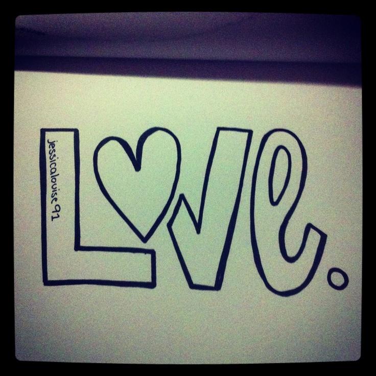 L.O.V.E - typography - Jessica Howson Design