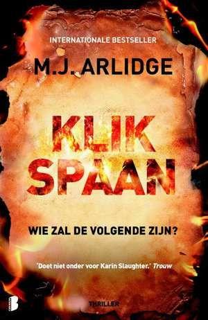 Klikspaan-M.J. Arlidge-boek cover voorzijde