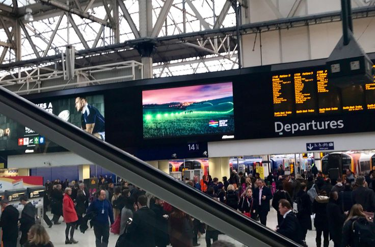 British Rail campaign live on London station screens