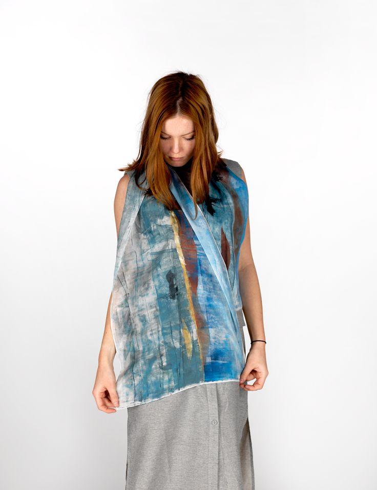 Daubs & Dashes: Vik silk scarf - Iceland Collection A/W 16