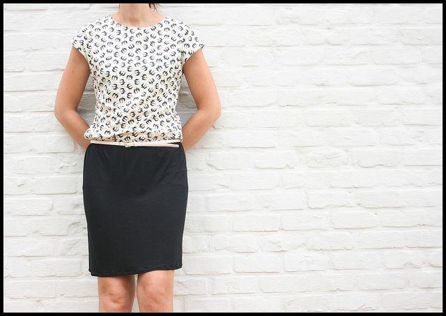 zwaluwjurk by by eva maria. Shirt ,gemaakt volgens patroon van de Harlequinjurk van La Maison...