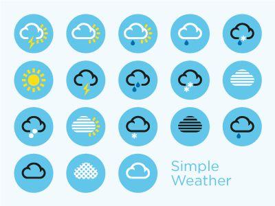 SimpleWeather Free Icons