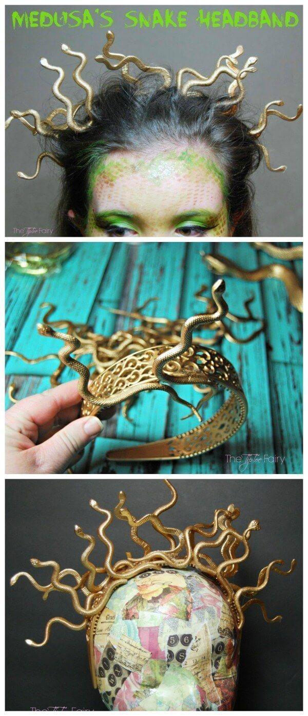 DIY Halloween Medusa Snake Headband – #DIY #Hallow…