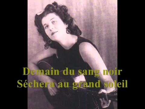 Anna Marly - La complainte du partisan (1963) - YouTube