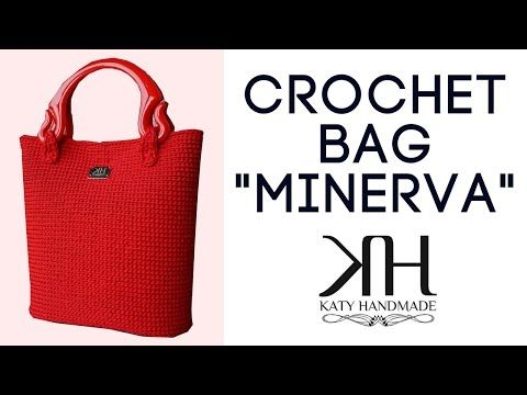 "Tutorial uncinetto borsa ""Minerva"" - Lavorazione su rete - Crochet bag 
