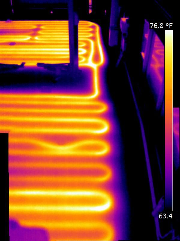 Infrared Radiant Floor Inspections Thermal Imaging Radiant Heat Infrared