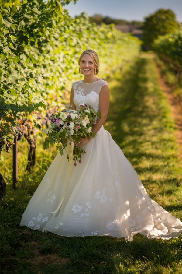 Beautiful Rustic Floral Filled Connecticut Winery Wedding