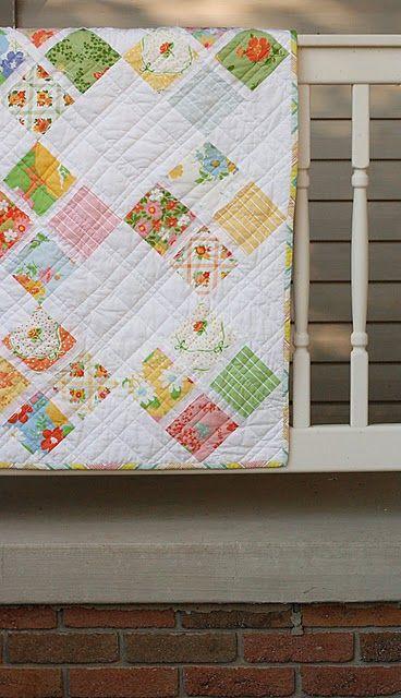 Vintage sheet quilt inspiration