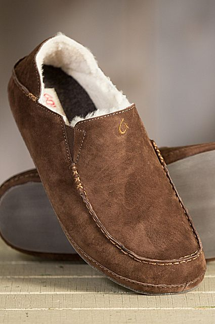 """Step into these cozy OluKai Moloa Sheepskin slippers and you can almost hear your feet say """"Aaaahhh."""" Free shipping + returns."""