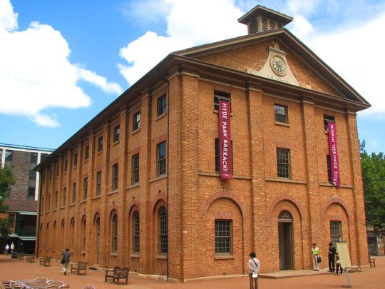 Hyde Park Barracks, designed by convict, Francis Greenway, was completed in 1819. The barracks housed up to 600 male convicts until 1848. Today, this building, located in Sydney city, is a museum, depicting the lives of the convicts who once lived there.