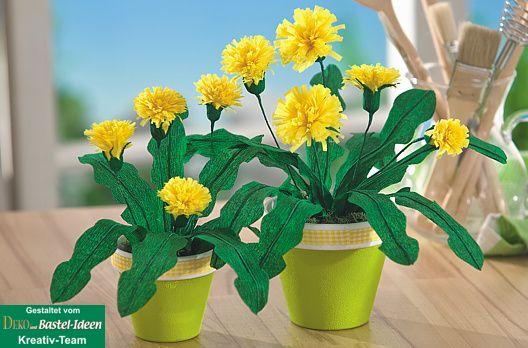 Blumen aus krepppapier pflanzen bilderrahmen ideen for Krepppapier blumen