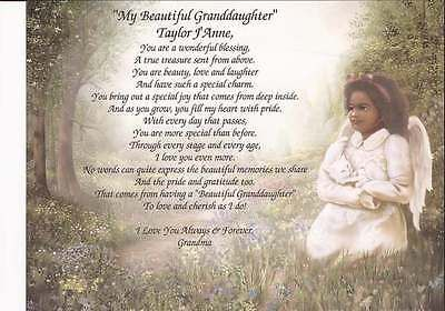 034-My-Beautiful-Granddaughter-034-Personalized-Poem-African-American-Girl-Unique-Gift
