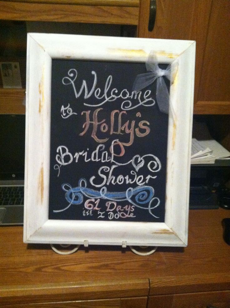 Holly's shower