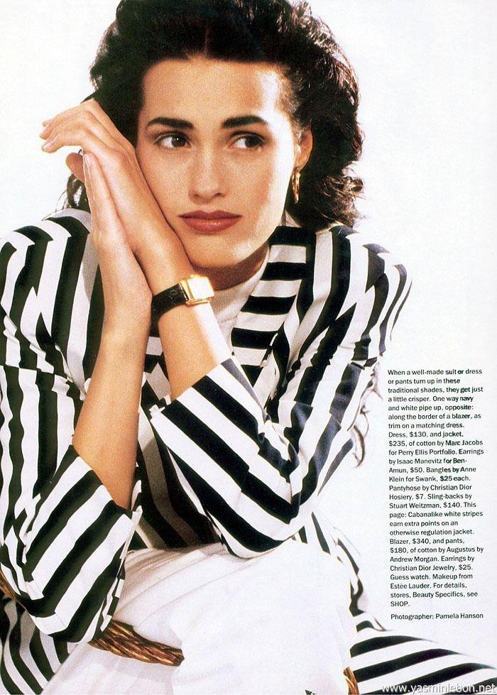 ☆ Yasmin Le Bon   Photography by Pamela Hanson   For Mademoiselle Magazine   February 1992 ☆ #Yasmin_Le_Bon #Pamela_Hanson #Mademoiselle_Magazine #1992