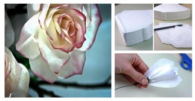 Krok po kroku: Piękne róże wykonane z filtrów do kawy #RÓŻE #KWIATY #DIU #ZRÓB TO SAMA #KROK PO KROKU