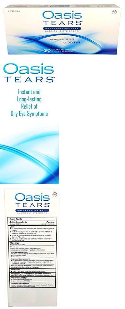 Eye Drops and Wash: Oasis Tears Original Lubricant Eye Drops Relief For Dry Eyes 30 Count Box Ste... -> BUY IT NOW ONLY: $65.93 on eBay!
