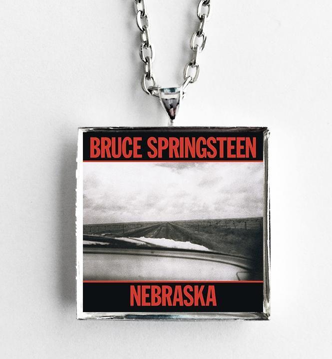 Bruce Springsteen - Nebraska - Album Cover Art Pendant Necklace