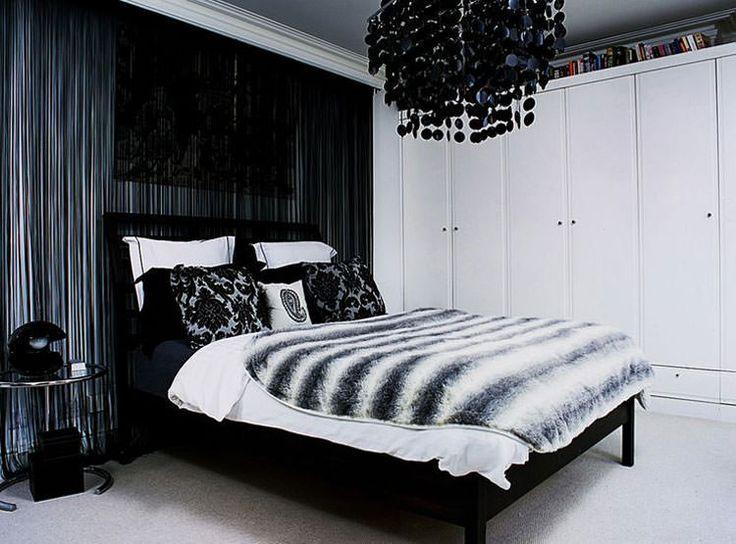 Idee per arredare la camera da letto in bianco e nero n.03