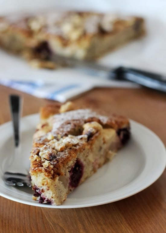 Blackberry&apple cake (in slovak)
