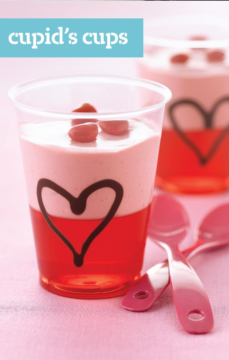 Cupidu0027s Cups U2014 When Fruity JELL O Gelatin Meets COOL WHIP In These  Deliciously Uncomplicated. Valentines Day TreatsValentine PartyRecipe ...