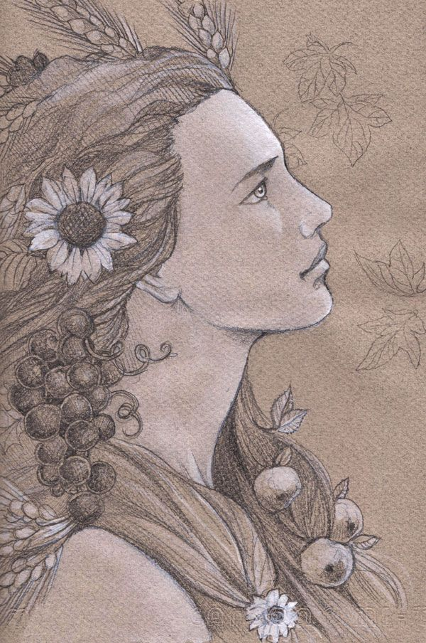 Yavanna, Giver of Fruits, Goddess of all things that grows. From J.R.R.Tolkien's The Silmarillion