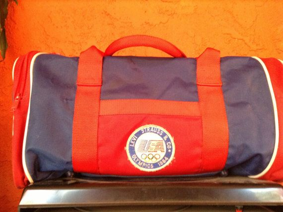 Vintage Levis 1984 Olympic gym tote bag. Free by Mamaphias on Etsy, $39.99