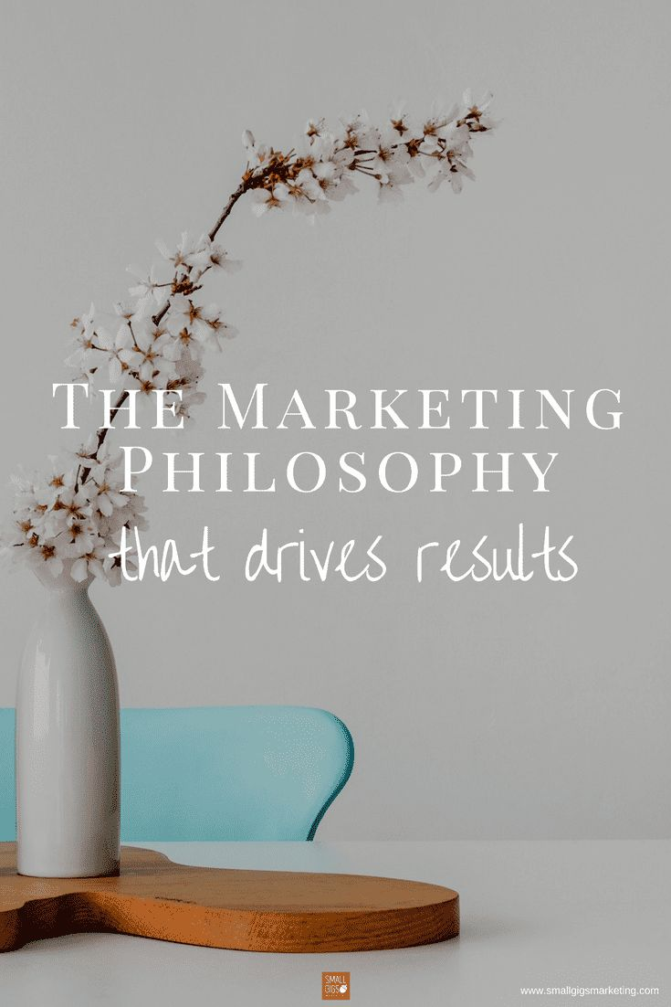 Marketing philosophy that drives results