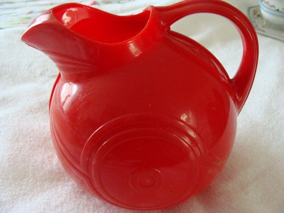1950's STYRENE PLASTIC PITCHER by MoreGreatThings on Etsy