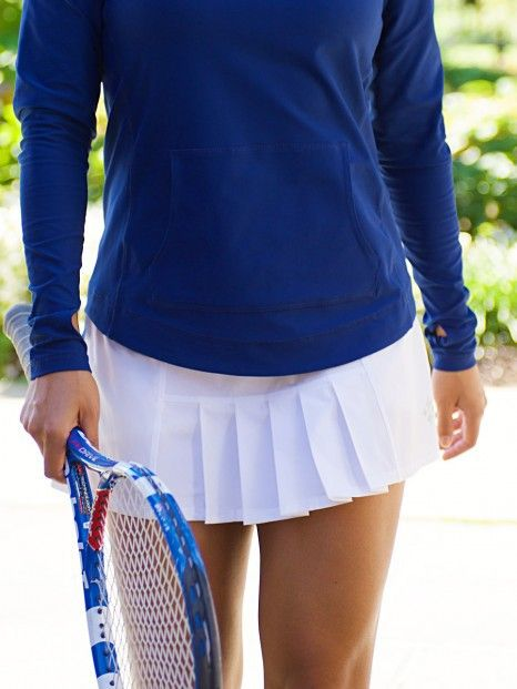 JoFit Ladies Dash Pleated Tennis Skort Features: Flirty, pleated styling. Made of a comfortably light, 4 way stretch fabric, The built in undershorts are lightweight and have a crotch panel instead of