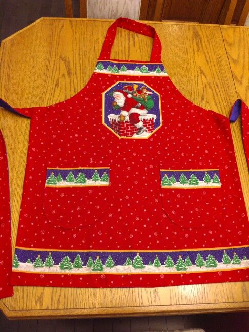 Santa's Big night apron panel