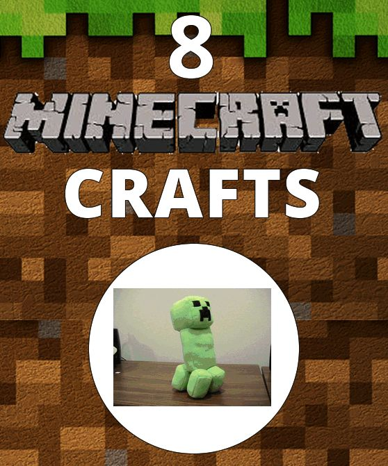 8 Fun Minecraft Crafts! #Minecraft #crafts   Check out http://minecraftfamily.com/ for cool new Minecraft stuff!