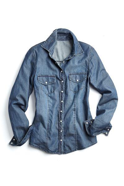 Mon travail de styliste pour Reitmans! Denim shirt / Chemise de jeans  #blue #bleu #jeans