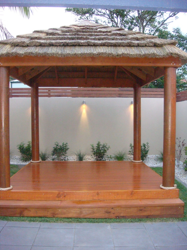 Aarons Bali Huts and African Thatches tie in perfectly with landscaping | Gazebos | Architectural Design