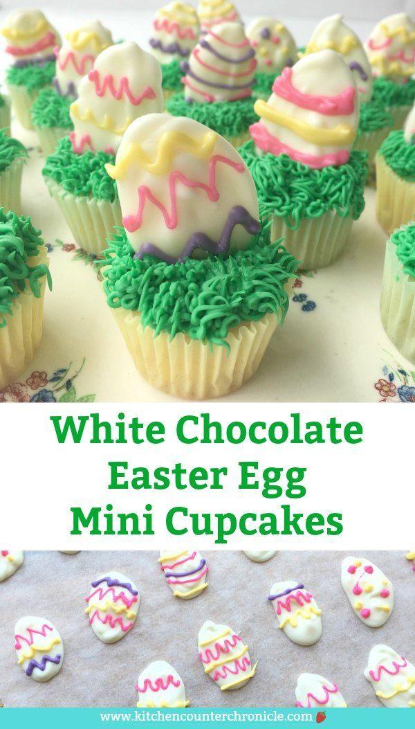 White Chocolate Easter Egg Mini Cupcakes Recipe Easter Games