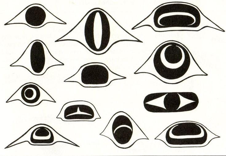 haida art eyes - Google Search