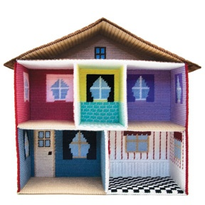 Doll House Plastic Canvas we had this. Where is it now Kendall would love this