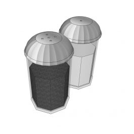 Salt and pepper shakers Sketchup model