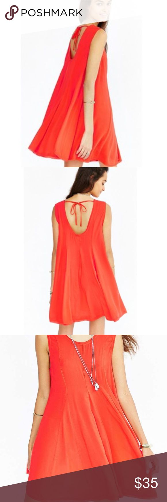 "•Ecote• NWT Urban Outfitters Clary Godet Dress Ecote NeT Urban Outfitters Clary Trapeze Coral Dress. Back Tie, Pull Over Style. When Laying Flat: Bust Measures Approximately 16.5"" Across, Length 32"" Urban Outfitters Dresses"