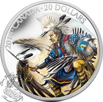 Coin Gallery London Store - Canada: 2014 $20 Legend of Nanaboozhoo Coloured Silver Coin, $99.95