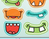 Monster Mongrels Theme - Printable Party Tags - Circles -Cupcake Toppers. $5.00, via Etsy.