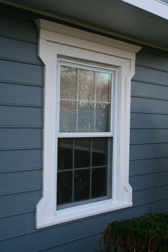 vinyl siding Victorian window retrofit-  Full Folk Victorian WIndow Casing