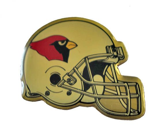 """ARIZONA CARDINALS Helmet Logo vintage enamel pin badge nfl Football by VintageTrafficUSA  14.00 USD  A vintage Arizona pin! Decent condition with light scuffs. Measures: approx 1"""" 20 years old hard to find vintage high-quality cloisonne lapel/pin. Beautiful die struck metal pin with colored glass enamel filling. These rare pins are proven to win you friends and influence people! Add inspiration to your handbag tie jacket backpack hat or wall…"""
