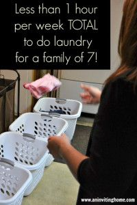 Laundry System For a Family of Seven (Less Than One Hour a Week)