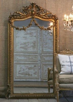 french...I will always have a place in my heart and home for these large ornate mirrors!