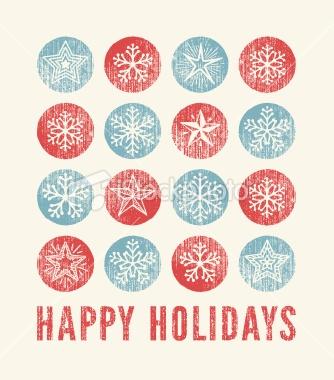 Holiday Card Royalty Free Stock Vector Art Illustration