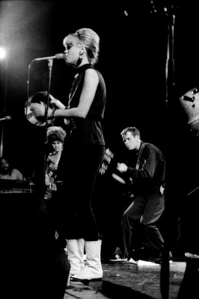 Photo of B52's and Cindy WILSON and B52'S Performing live on stage LR Kate Pierson Cindy Wilson and Ricky Wilson
