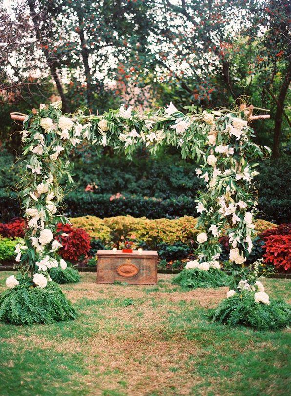 Ceremony Decoration White Flower Alter Backdrop