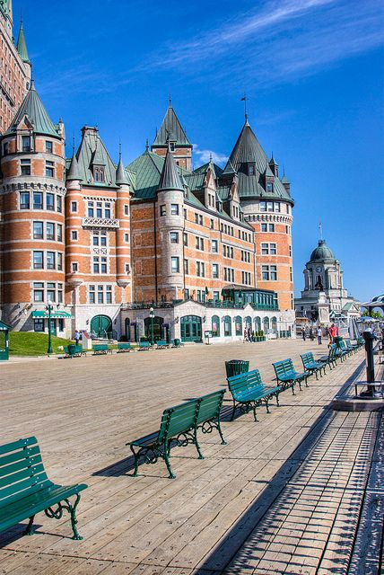 Chateau Frontenac in Quebec City. First visit here was with my parents. Amazing!