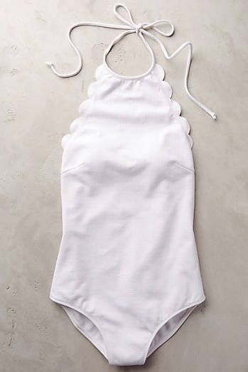 Scalloped one piece